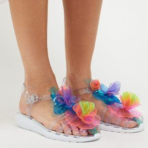 SOPHIA WEBSTER Jumbo Lilico Jelly Sandals Clear
